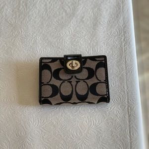 COACH black and grey wallet